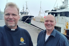 Deacon David with Torleif, director of the Faroese Seaman´s Mission