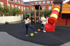 A quick visit to the playground in the kindergarten
