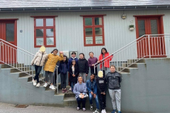 Visiting the original site of the kindergarten and school founded by the Franciscan sisters