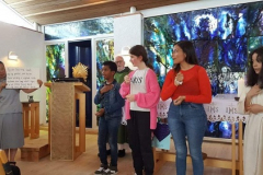 Claudia taught the children a hymn in sign language which they sang during Mass